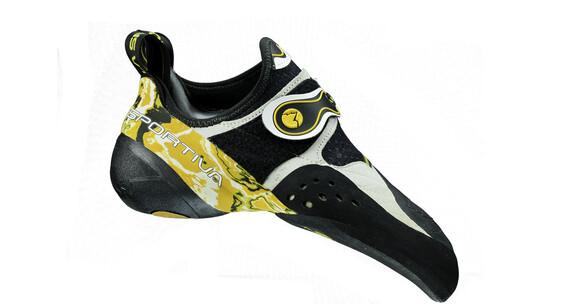 La Sportiva Solution Climbing Shoes Unisex white/yellow
